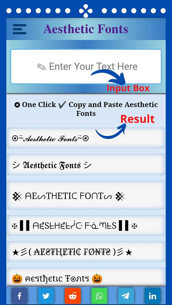aesthetic fonts generator